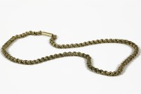 Lot 1009-A gold three row fancy link belcher chain (tested as approximately 9ct) 20.14g