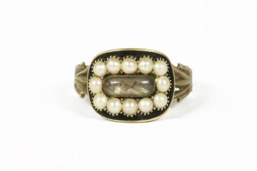 Lot 1017-A Georgian gold memorial ring