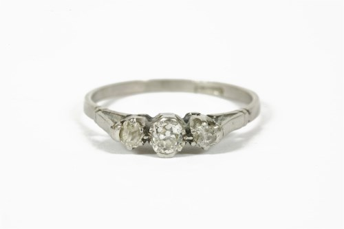 Lot 1018-A three stone diamond ring