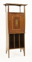 Lot 2-A mahogany music cabinet