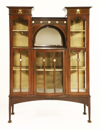 Lot 4-A Shapland and Petter mahogany inlaid display cabinet