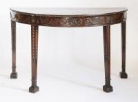 Lot 125 - An Adam-style mahogany demi-lune table
