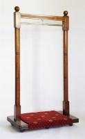 Lot 127 - A modern mahogany coat rack