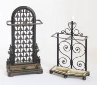Lot 128 - A Victorian cast iron stick stand
