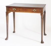 Lot 129 - A mahogany side table