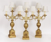 Lot 10 - Three giltwood and cast metal