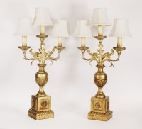 Lot 11 - A pair of giltwood and cast metal