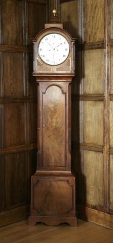 104 - A Regency mahogany longcase clock