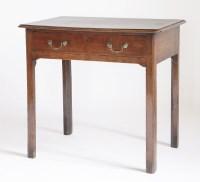 Lot 109 - A George III oak side table