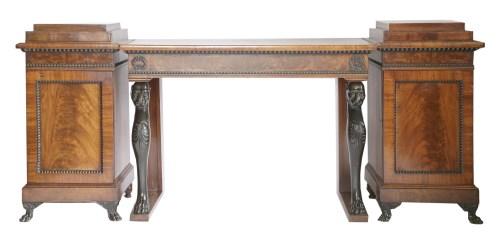 Lot 110-A Regency mahogany three-piece sideboard