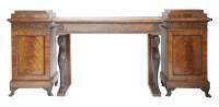 Lot 110 - A Regency mahogany three-piece sideboard