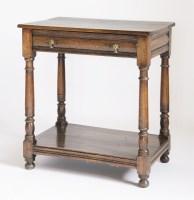 Lot 112 - A reproduction oak side table