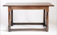 Lot 114 - An oak plank top serving table
