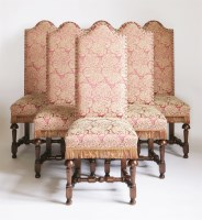 Lot 106 - A set of twelve single dining chairs