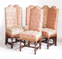 Lot 107 - A set of twelve single dining chairs