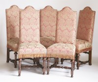 Lot 108 - A set of ten single dining chairs