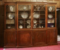 Lot 172 - A George lll mahogany breakfront bookcase