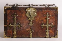 Lot 173 - A kingwood coffer fort (strong box)