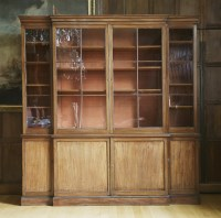 Lot 176 - A George lll mahogany breakfront bookcase