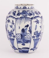 Lot 160 - A Dutch delft blue and white vase
