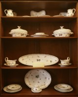 Lot 180 - An extensive 'di Doccia of Florence' pottery part dinner service
