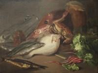 Lot 153 - Daniel Macdonald (1821-1853) STILL LIFE OF FISH