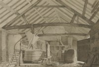 Lot 151 - Jean Claude Nattes (1765-1822) THE BREWERY AT NORTH MYMMS PLACE Pencil