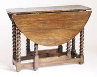 Lot 186 - An oak gateleg table