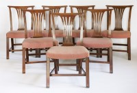 Lot 144 - A set of fifteen Chippendale-style mahogany single dining chairs