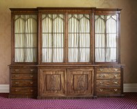Lot 142 - An impressive George lll mahogany breakfront bookcase