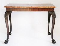 Lot 145 - A mahogany pier table
