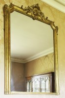 Lot 146 - An early Victorian giltwood pier glass