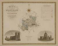 Lot 137 - A 'map of the county of Middlesex from an actual survey made in the years 1819 and 1820 by C & I Greenwood