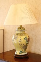 Lot 140 - A modern Chinese vase table lamp