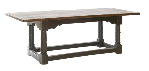 Lot 16 - An oak refectory table