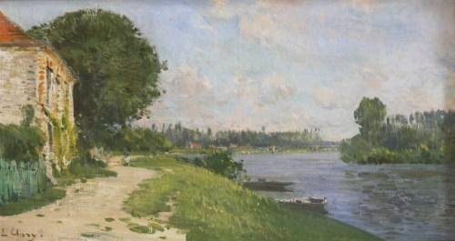 Lot 6 - Jean-Eugène Clary (1856-1929) A RIVER LANDSCAPE Signed l.l.