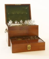 Lot 23 - A George III mahogany apothecary's cabinet