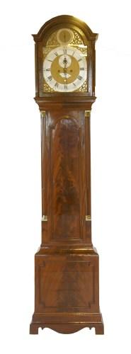 Lot 45 - A George III mahogany longcase clock