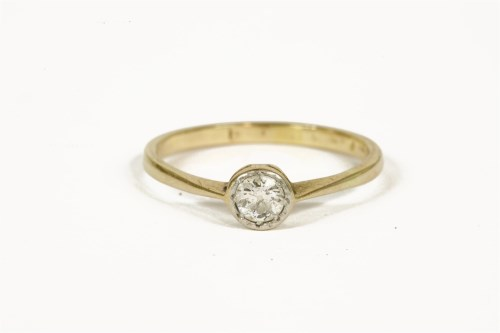 Lot 1003-A gold single stone old cut diamond ring