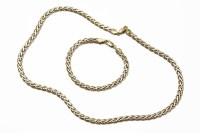 Lot 1031-A 9ct two colour gold fancy 'S' link chain necklace