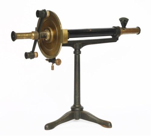 Lot 28 - A brass polarimeter