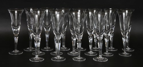 Lot 37 - A matched set of eighteen modern champagne flutes