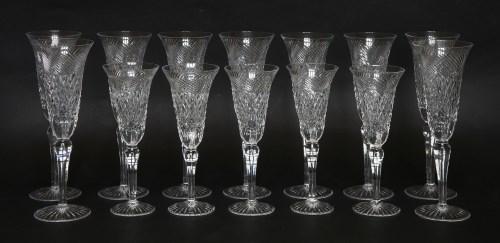 Lot 38 - A set of nine modern champagne flutes
