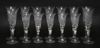 Lot 38 - A set of nine modern champagne flutes
