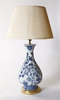 Lot 41 - A Dutch delft blue and white baluster vase