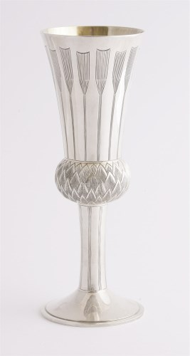 Lot 241-A modern silver goblet