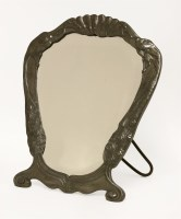 Lot 18-An Art Nouveau pewter 'Osiris' mirror