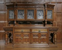 Lot 47 - An extraordinary late Victorian oak sideboard