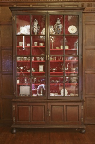 Lot 46 - A George ll oak bookcase