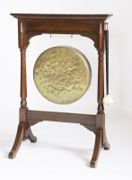 Lot 54 - A Victorian oak dinner gong